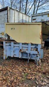Twin Hydraulic Chute Fed Trash  Compactor
