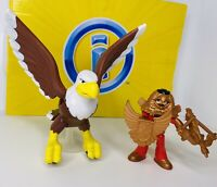 Fisher-Price Imaginext Knight & Eagle With Action Figure Complete!!