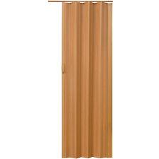 Porte accordéon placard pliante extensible pvc salle de bain 80 x 203 cm noyer