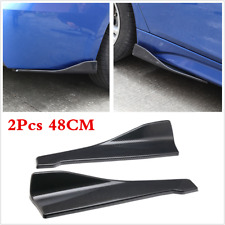 2PCS Car Side Skirt Extension Splitters Winglet Diffuser Rear Lip Carbon Fiber