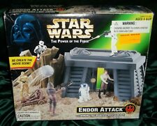 STAR WARS POTF POWER OF FORCE SERIES ENDOR ATTACK SHIELD GENERATOR PLAYSET