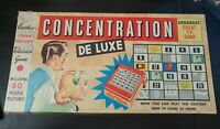 Collectable Vintage CONCENTRATION DE LUXE TV Board Game MB Games 2nd Edition