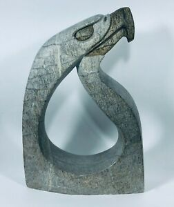 Eagle Soapstone Six Nations Hand Carved Stone By Sue Sky Canadian Iroquois
