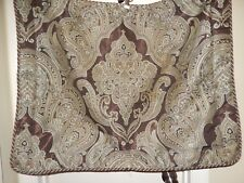 Croscill ROYALTON Brown Espresso Blue Medallion Paisley 1 Standard Pillow Sham