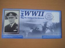 GREAT BRITAIN, 2001,WW11,SINKING OF BISMARCK,SHIP,60TH ANNIV,COVER,EXCELLENT.