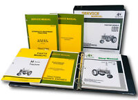 SERVICE PARTS MANUAL SET FOR JOHN DEERE H HN HNH HWH TRACTOR CATALOG SHOP BOOK
