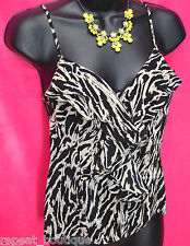 Silence + Noise URBAN OUTFITTERS 100% SILK cami ruffle tank top blouse SZ S NEW