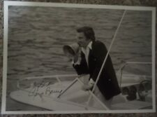 "GENE BARRY AUTOGRAPH HAND SIGNED 10""x7"" PHOTO ""BURKE'S LAW""/""WAR OF THE WORLDS"""
