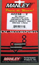 42238-2 Manley Oil Restrictors Stainless Allen Head Chevy