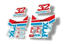 Fox 32 Step Cast Sc Forks Suspension Factory Decal Stickers Adhesive Red Blue