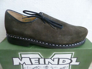 Meindl Men's Costume Shoes Brogues Olive Loden Altschwarz Leather New