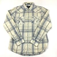 American Eagle Pearl Snap Plaid Button Up Long Sleeve Men's Shirt Size M EUC