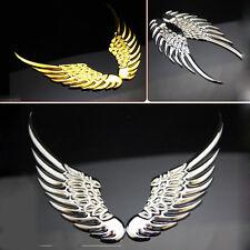3D Silver/Gold Car Metal Emblem Badge Side Trunk Decal Sticker Angel Eagle Wing