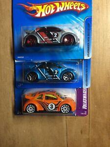 Hot Wheels Volkswagen New Beetle Cup 3 Pack
