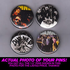 """THE DAMNED - 1.5"""" PINS / BUTTONS (vintage punk poster record lp print badge)"""