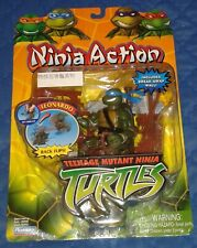 2004 * NINJA ACTION LEO LEONARDO MOC * MINT ON CARD TEENAGE MUTANT TURTLES TMNT