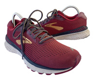 Brooks Adrenaline GTS 20 Womens Size 9.5 Red Walking Running Shoes Sneakers