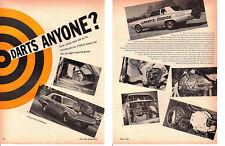1966 DODGE DART HEMI FUNNY CAR / DICK LANDY ~ ORIGINAL 2-PAGE ARTICLE / AD