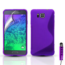 S-Line Silicone Gel Case Cover For Samsung Galaxy Alpha & FREE Screen Protector