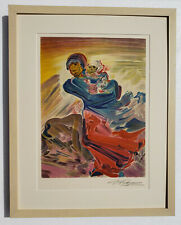 DAVID ALFARO SIQUEIROS Vintage ORIGINAL PENCIL SIGNED STONE LITHOGRAPH Mother