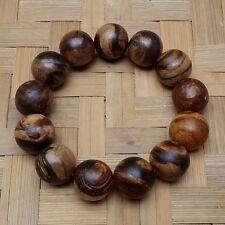 18 MM Akar Zebra Agarwood Bracelet Gaharu 13 Beads Aloeswood #GA1