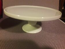 "Bisque White Pedestal Cake Stand 9"" White Ceramic Pastery Plate"