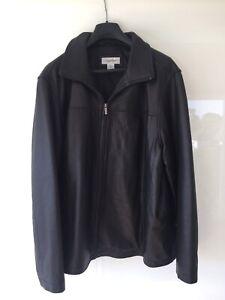 Calvin Klein Men's Leather Jacket - XL