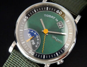 Working Vagary by Citizen Today is !!! Dual Time Quartz Mens Unisex Green Watch