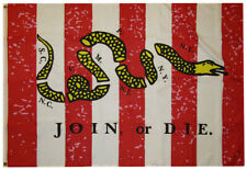 Sons Of Liberty Join Or Die Rebellious Stripes Woven Poly Nylon 3x5 3'x5' Flag