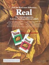 Real Cigarettes 1977 Magazine Advert #2879