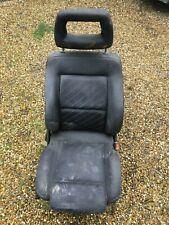 AUDI 80 B3 B4 SALOON AVANT BLACK SILK RECARO STYLE FRONT RIGHT DRIVER SIDE SEAT