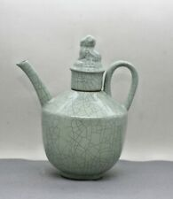 Exquisite Superb Antique Chinese Ru Yao Crackle Glaze Porcelain Teapot c1910s