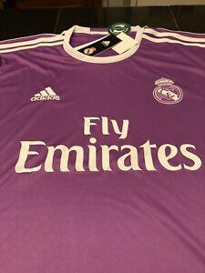 RARE MENS ADIDAS CLIMACOOL Real Madrid Jersey PURPLE 2XL XXL NWT $90
