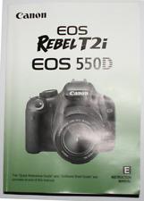CANON EOS REBEL T2i 550D DIGITAL SLR CAMERA INSTRUCTION MANUAL -CANON DSLR