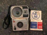Ansco Cadet Flash Camera 12 Westinghouse Bulb Kodak Film 127 Anscar Lens Vintage