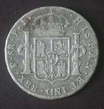1808 Bolivia 8 R Silver Coin