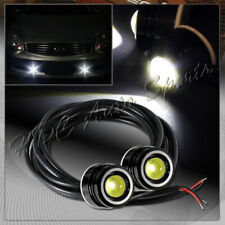2 x 25mm 6w 12v White LED Eagle Eye DRL Daytime Running Lights Lamp Universal 3