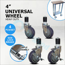 """Set of 4 Casters / Wheels For Work Table 