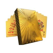 Gold Foil Waterproof Plastic Playing Poker Deck Game Cards Statue of Liberty