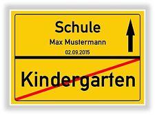 Ortsschild - Bild - Kindergarten - Schule - Einschulung - Geschenk - 1. Schultag