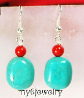 Ny6Designs Turquoise & Red Coral Sterling Silver Earring(ER279)a