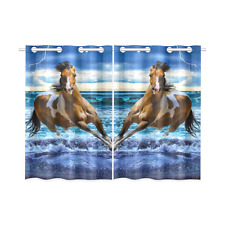 Running Horse Lightning Kitchen Curtains 26X39 IN (Two Piece) Decorative Curtain