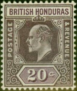 British Honduras 1904 20c Dull & Bright Purple SG83 Fine MNH