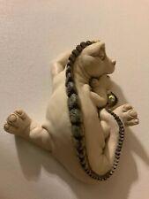 Vintage Krystonia Sleeping Dragon Figurine With A Crytal Ball Signed