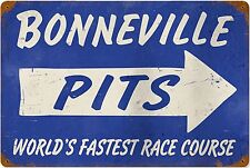 Bonneville Pits rusted steel sign  450mm x 300mm           (pst 1812)
