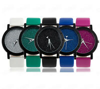Fashion Women Watch Star Simple Couple Watch Leather Analog Quartz Wrist Watches