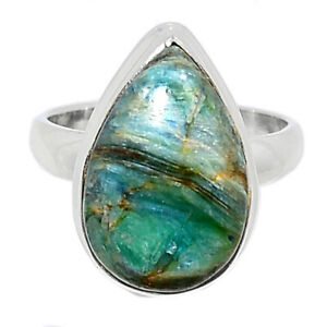 Mermaid Kyanite 925 Sterling Silver Ring Jewelry s.6.5 BR89398
