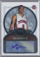 2006-2007 Bowman Sterling Basketball Will Blalock Pistons Rookie Autograph Card