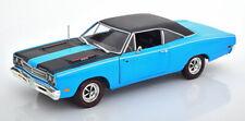 1:18 Ertl/Auto World Plymouth Road Runner 1969 blue/matt-black