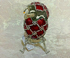 Faberge Egg Swan in the Red Egg. Made in Russia
